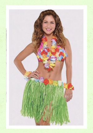 """THE HULA HONEY!"" REALLY CUTE CUATOM MADE HAWAIIAN 🌺 GIRL COSTUME WOMNES SIZE S/M - NEW! for Sale in Carrollton, TX"