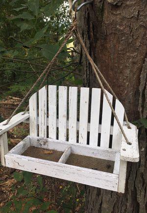 White bench bird feeder for Sale in Ringgold, GA