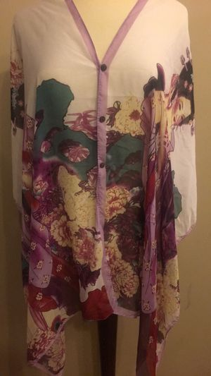 Asian inspired sheer shawl/beach cover-up for Sale in Washington, DC