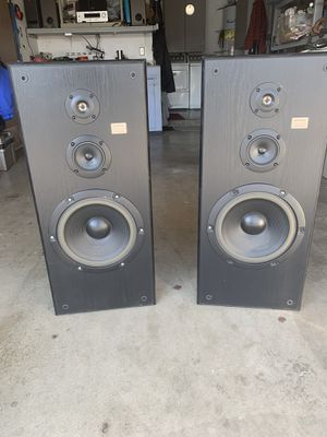 """Sony SS- U481-AV 3-way home speakers. 12inch woofers - 3 """" med-range - 2"""" tweeters. They sound good. Black cabinets are in good condition with some for Sale in Corona, CA"""
