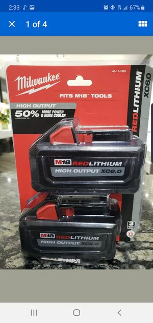 Milwaukee battery 2pks for Sale in Silver Spring, MD
