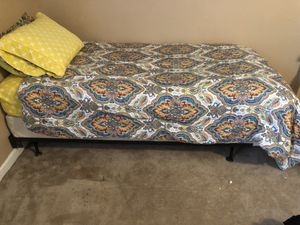 XLong twin mattress set with frame for Sale in Nashville, TN