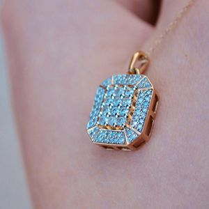 Diamond Pendant with Chain Necklace Yellow Gold for Sale in Scottsdale, AZ
