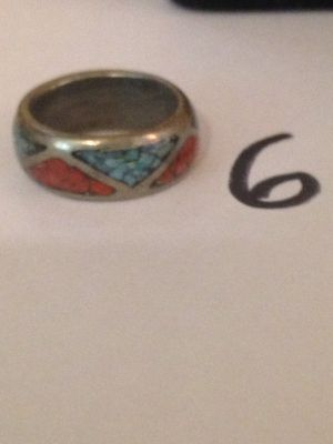 Turquoise silver ring size 6 for Sale in Nashville, TN