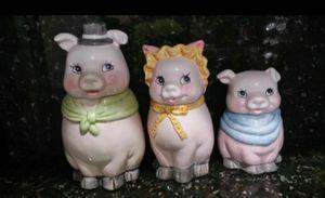 Three Pigs Ceramic Cookie Jars for Sale in Hialeah, FL