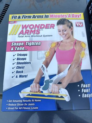 (1) New, Wonder Arms, Total Arm Workout System, Fit & Firm Arms In Minutes A Day! No Codes. for Sale in Fayetteville, NC