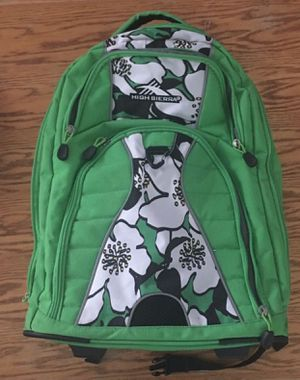 Full sized rolling backpack with laptop sleeve green for Sale in Tucson, AZ