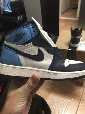 Jordan 1 Obsidian GS size 5.5y Sold out everywhere Brand new with box 100 percent authentic for Sale in Miami, FL