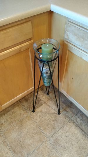 Metal & Glass Candle Holder/ Decor for Sale in Peoria, AZ