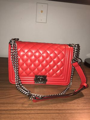 Quilted leather Chanel cross body boy bag for Sale in Alexandria, VA