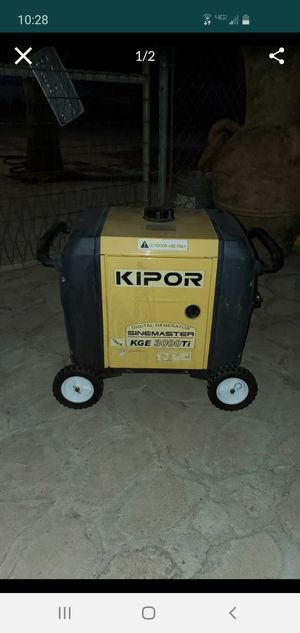 Kipor 3000 watt quiet generator for Sale in Riverside, CA