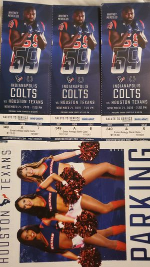 Texans tickets for Sale in Friendswood, TX