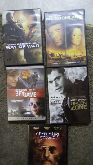 DVDs Way Of War, Freedomland, Green Zone, Spy Game, Spreading Ground for Sale in Port Orchard, WA