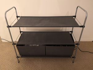 Closet organizer with portable bins for Sale in Chicago, IL