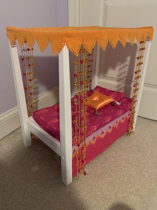 American girl doll Julie's bed.