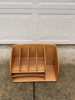 Wood Mail Desk organizer for Sale in Tacoma,  WA