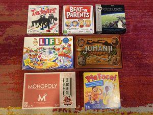 7 popular board games bundle for Sale in Davie, FL