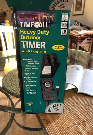 Outdoor timer for Christmas lights or pool for Sale in Clinton, MD