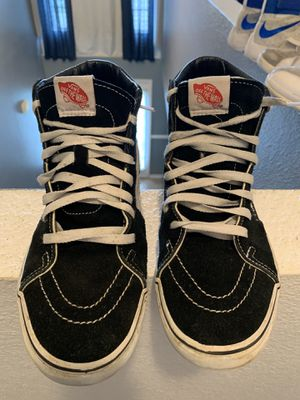 Black and white high top vans men's size 8 1/2 for Sale in Orlando, FL