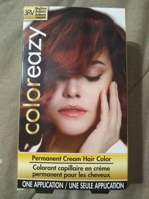 Coloreazy 3RV Medium Auburn Permanent Cream Hair Color new for Sale in Model City, NY