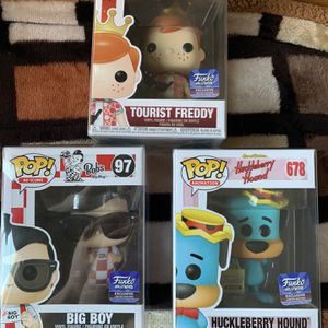 FunkoPop! Fredy funko, Big Boy And Huckleberry for Sale in Dinuba, CA