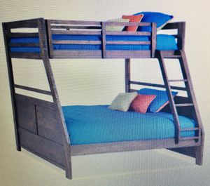 Chadwick Rustic Twin/Full Wire Brush Bunk Bed for Sale in Chantilly, VA