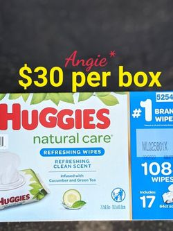 Huggies Natural Care Baby Wipes Cucumber for Sale in Bellflower,  CA
