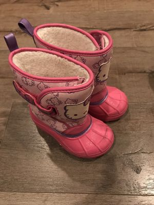 Hello Kitty snow boots kids size 7/8 for Sale in Glendora, CA