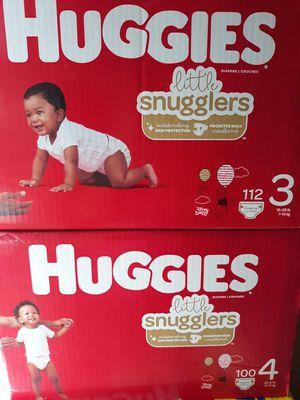 HUGGIES LITTLE SNUGGLERS SIZE 3 DE 112 PAMPER A $25 PRECIO FIRME for Sale in Santa Ana, CA