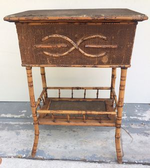 Antique Burnt Bamboo Sewing Stand / Table for Sale in Loxahatchee, FL