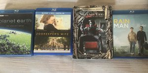 Planet Earth, Zookeepers wife, Sweeney Todd and rain man Blu-Ray/DVD for Sale in Palm Beach Gardens, FL