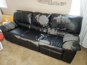 Free couch with reclining seats for Sale in Visalia, CA
