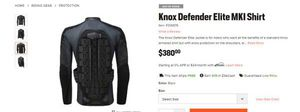 KNOX Defender Elite Armored Motorcycle Shirt (Size XL) for Sale in Washington, DC