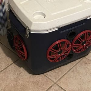 Ice Chest Cooler Radio Speaker System for Sale in Humble, TX