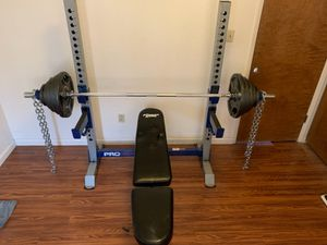 Bench press workout set free weights for Sale in Livermore, CA