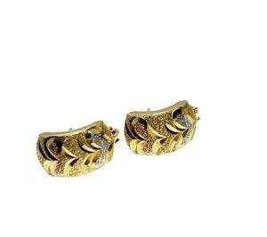 18kt Gold Italian Hoop earrings for Sale in Los Angeles, CA