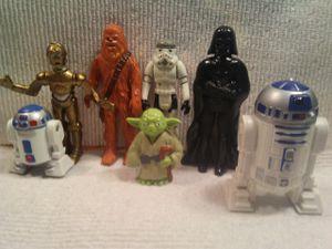 Star wars figures vintage plus R2D2 talk back for Sale in Lynchburg, VA