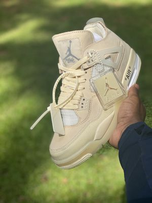 "Air Jordan 4 OFF-WHITE ""Sail"" Sz: 7.5 (in men's) for Sale in Marietta, GA"