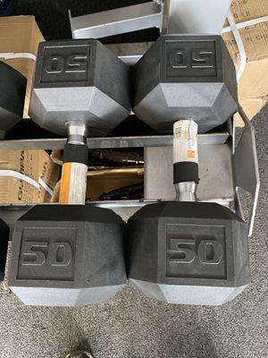 Dumbbells 50lb for Sale in South Gate, CA