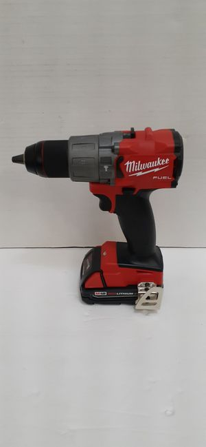 Milwaukee M18 fuel brushless 3rd generation Hammer drill and battery no charger brand new nuevo for Sale in San Bernardino, CA