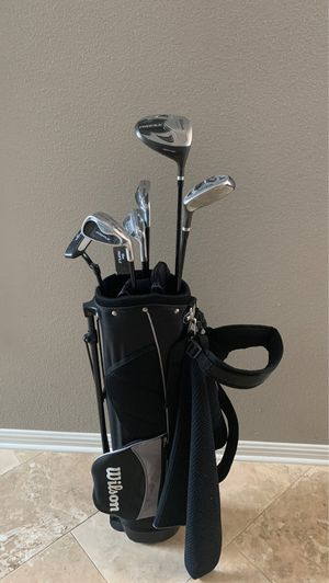 Wilson profile high launch junior golf clubs, golf bag, golf towel, 4 tees, 5 Wilson ultra balls for Sale in Round Rock, TX