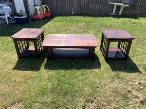 Solid wood end tables and coffee table for Sale in Layton, UT