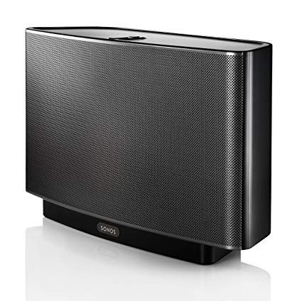 Sonos Play 5 (gen 1) with speaker stand, cover and wireless bridge.