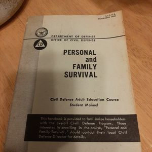 1966 Civil Defense Book for Sale in Elma, WA