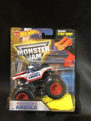 Captain America Hot Wheels Monster Truck for Sale in Orlando, FL