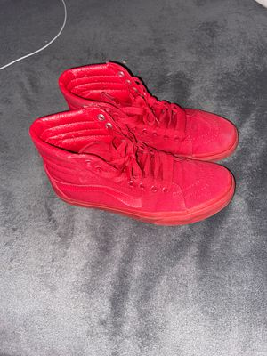 Red high top vans for Sale in Clermont, FL