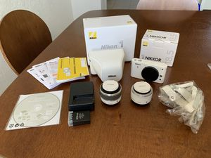 Nikon 1 J1 10.1MP Digital Camera - White Bundle for Sale in Coconut Creek, FL