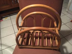 Magazine rack bamboo vintage for Sale in Hollywood, FL