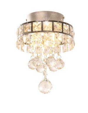 3-Light Chrome Finish Crystal Chandelier Pendent Light for Hallway,Bedroom,Kitchen,Kids Room,3x1W Bulb Included for Sale in New York, NY