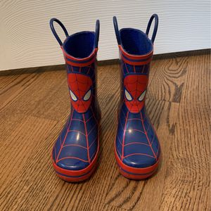 Spiderman Rain Boots Toddler Size 8 for Sale in Bloomingdale, IL